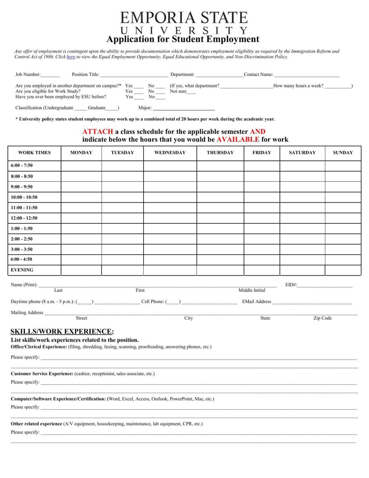 Student Application
