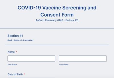 Vaccine form