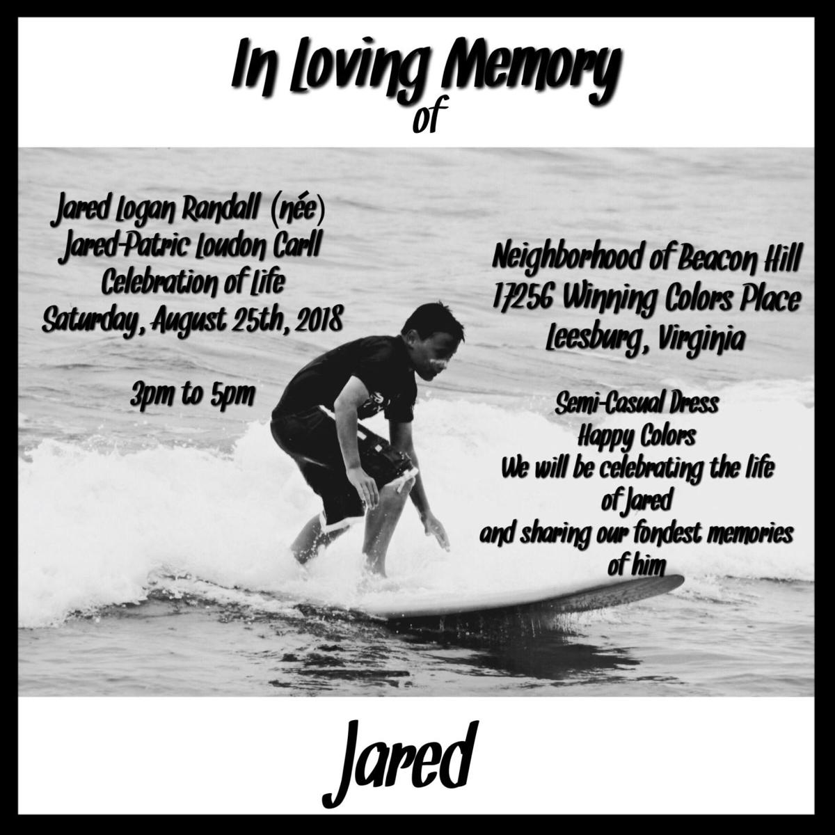 Jared's Celebration of Life