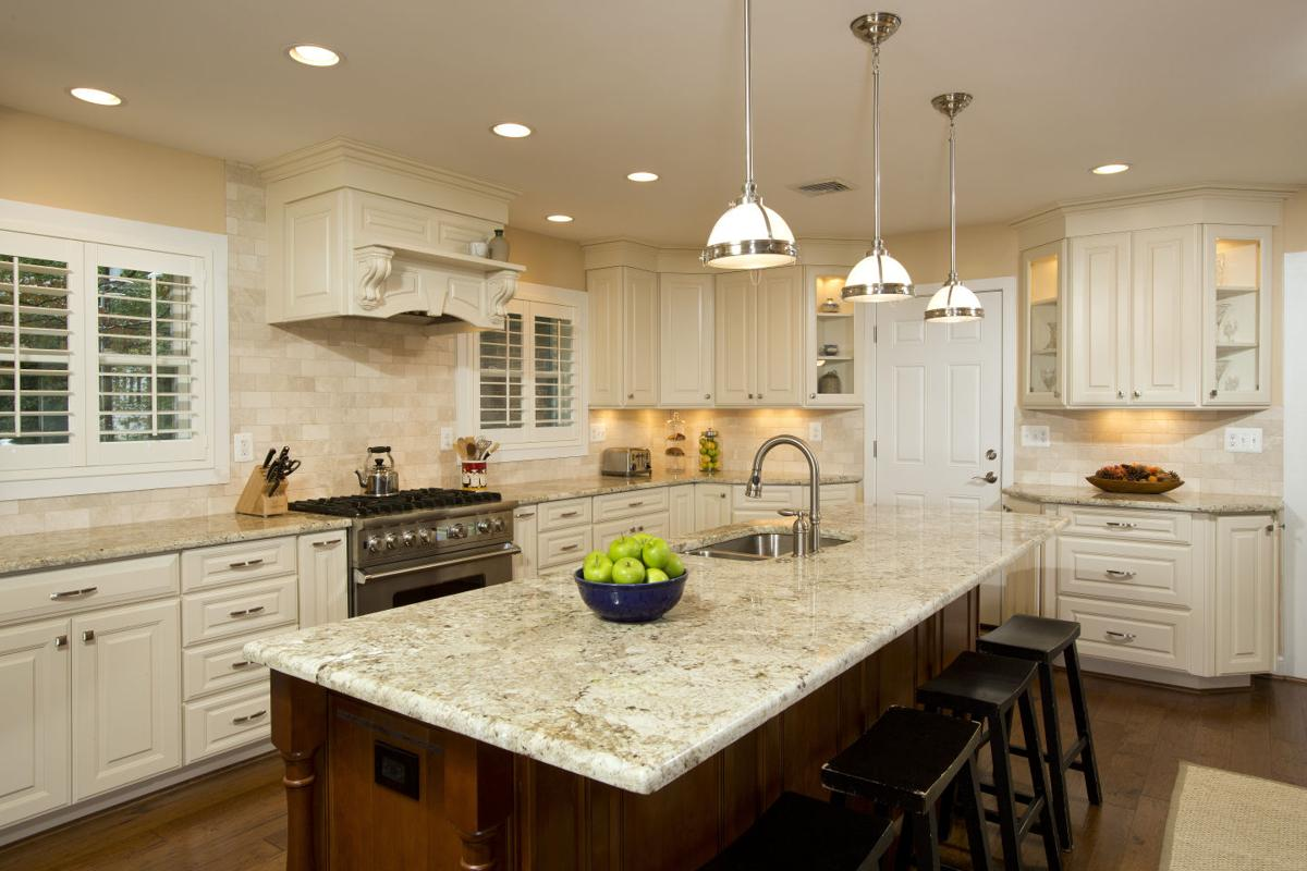 Classic Mid Century Home Reconfigured To Accommodate 400 Square Foot Gourmet Kitchen Articles Fairfaxtimes Com,Black Kitchen Cabinets With Marble Countertops