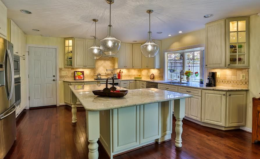 Kitchen Island Knee Wall small space, big solution | articles | fairfaxtimes