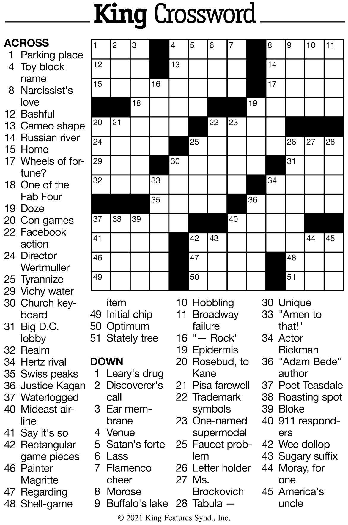 7/9 Crossword Puzzle