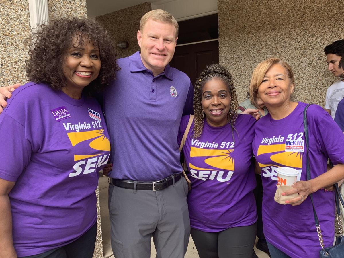 SEIU members with Chair-elect Jeff McKay