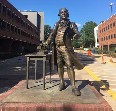 George Mason statue ready to move to new home