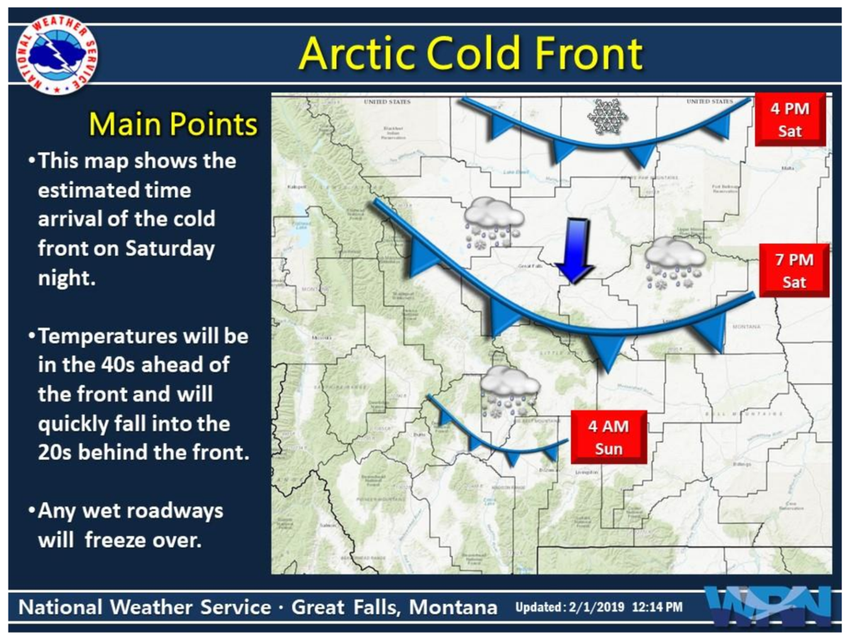 Winter Storm Will Impact North-Central and Southwest Montana Saturday Night through Monday