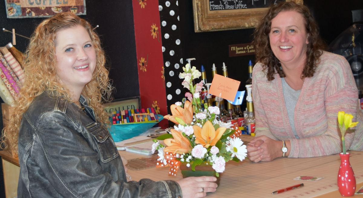 Blossoms and Blooms makes one of their first deliveries in Fairfield...