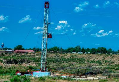 Oil Well Drilling Rig at Midwest, Wyoming