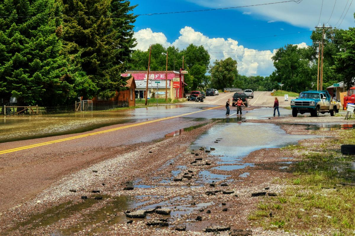 Aftermath of 2018 Floods in Sun River, Montana