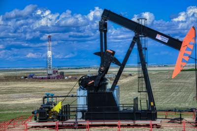 Drilling and pumping in the Southern Alberta oil fields
