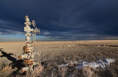 Shut-in oil and gas well near Montana Overthrust Belt
