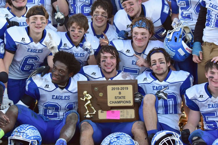 Fairfield Eagles with their newest trophy