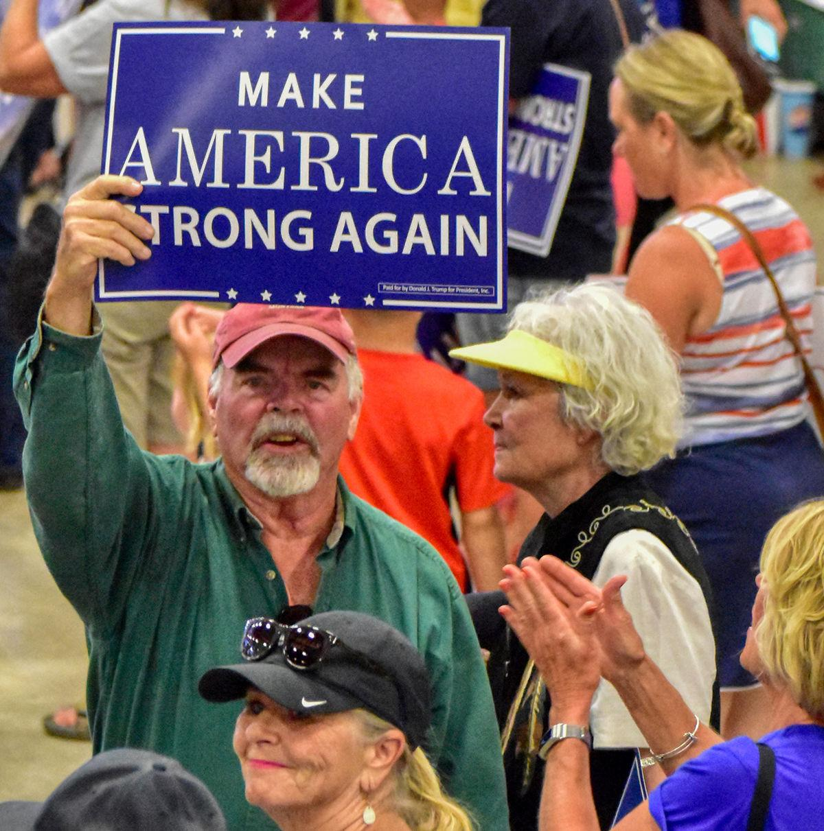 Trump supporter at 2018 Rally in Great Falls, Montana.