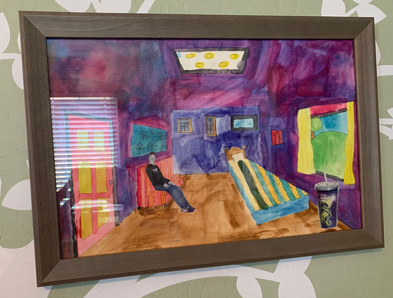 "Ben Bonaroti drew ""dream room"""