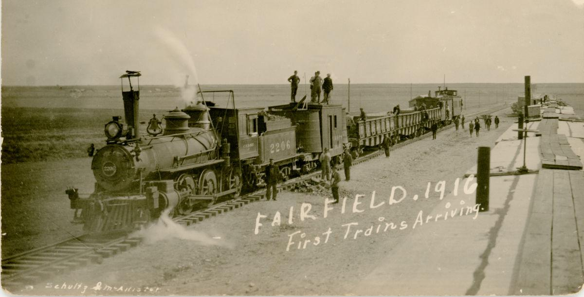First trains in Fairfield, Montana