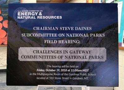Yellowstone's Gateway Communities Discuss Challenges, Deferred Maintenance Backlog at Congressional Field Hearing