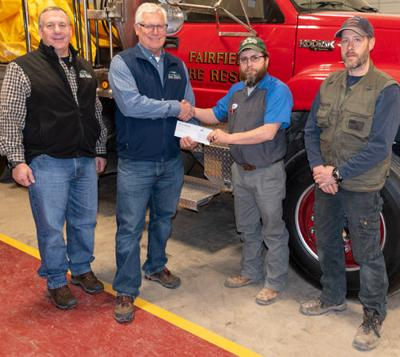 Sun River Electric Donates $2,400 To Fairfield Volunteer Fire Department