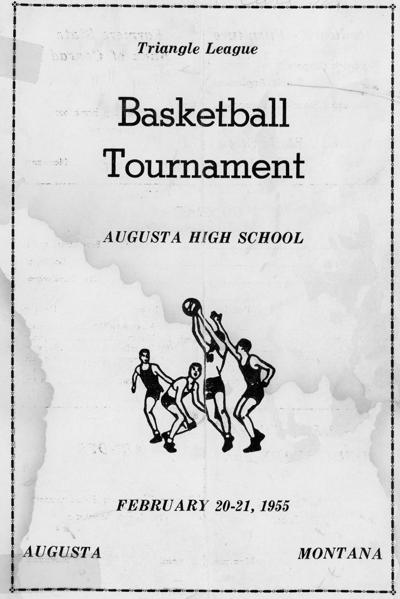 1955 Basketball Tournament Program