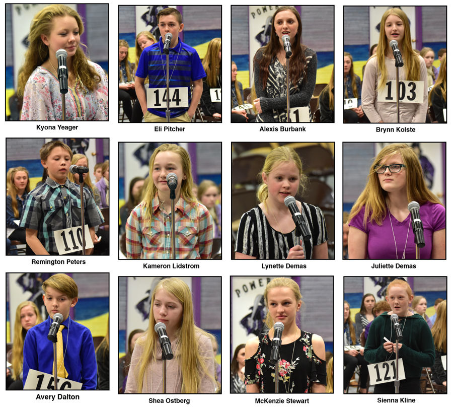 Some of the Teton County Spelling Bee participants from Fairfield!