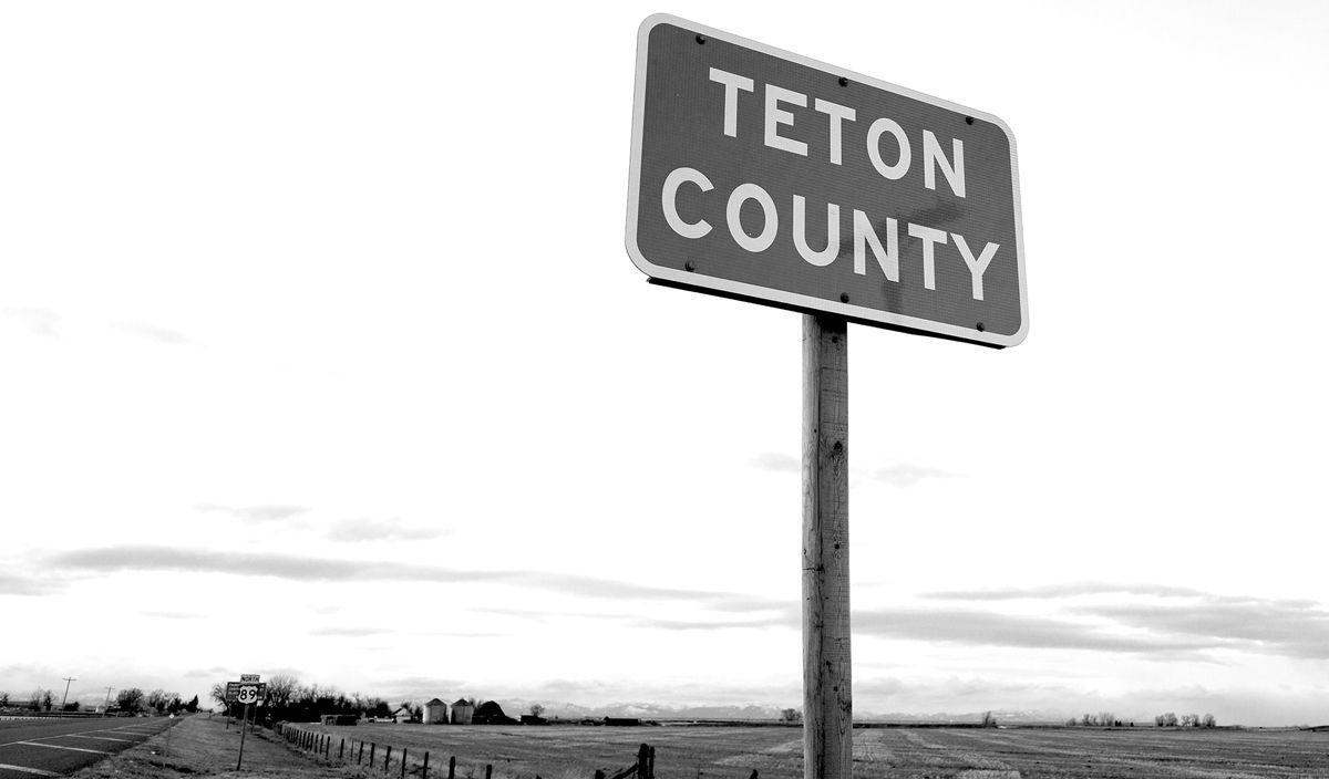Teton County Montana Sign