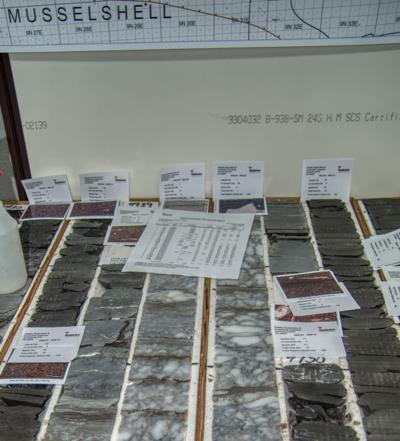 Montana well cores studied in Colorado core lab