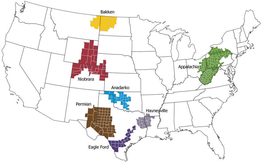 U.S. Oil Plays Map