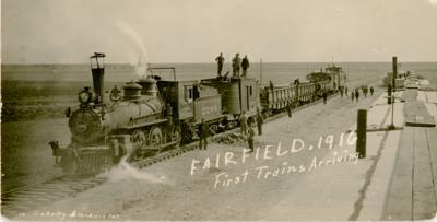 1916: First Train Arrives in Fairfield, Montana