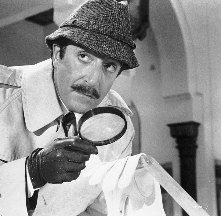 """Peter Sellers in """"The Return of the Pink Panther"""" (1975)."""