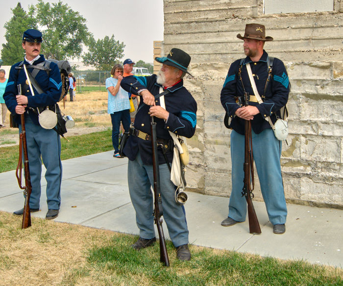 Fort Shaw Sesquicentennial Soldiers