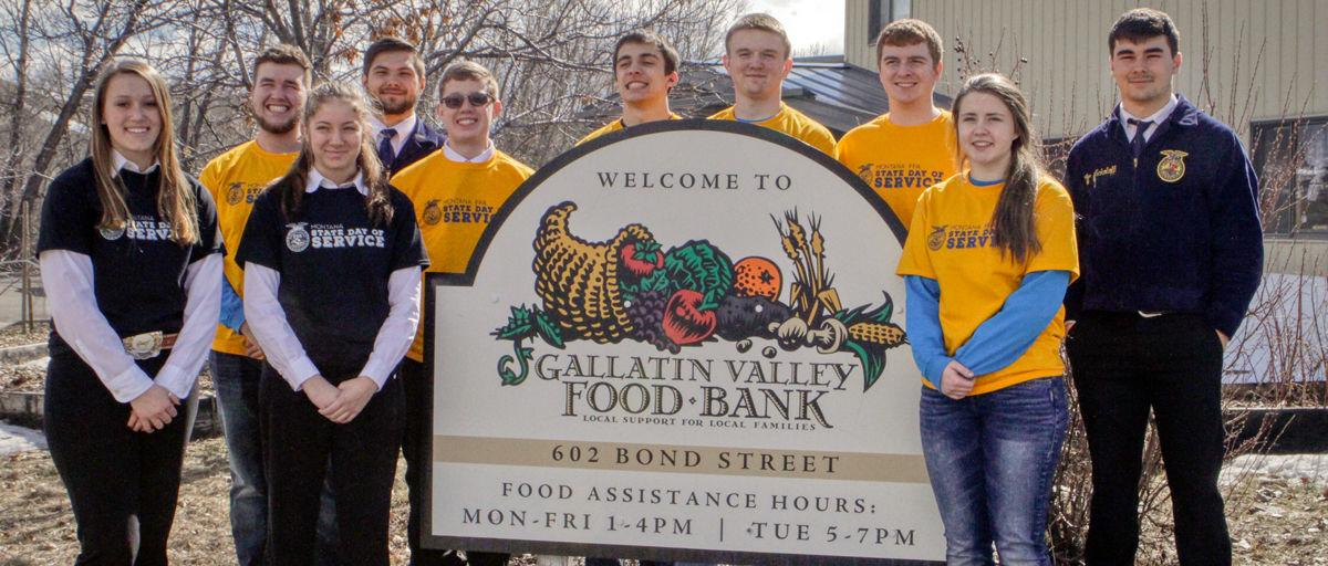 Day of Service picture at Gallatin Valley Food Bank