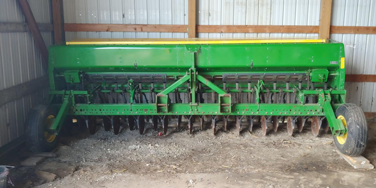 JD 515 Grain drill for sale image 1