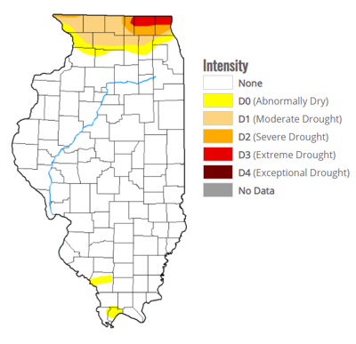 Parts of Northern Illinois remain on drought monitor