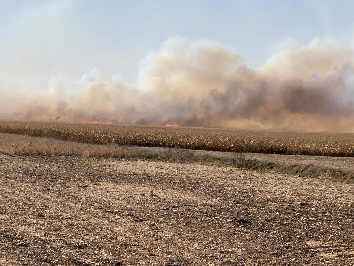 Dry conditions ignite harvest activity, field fires