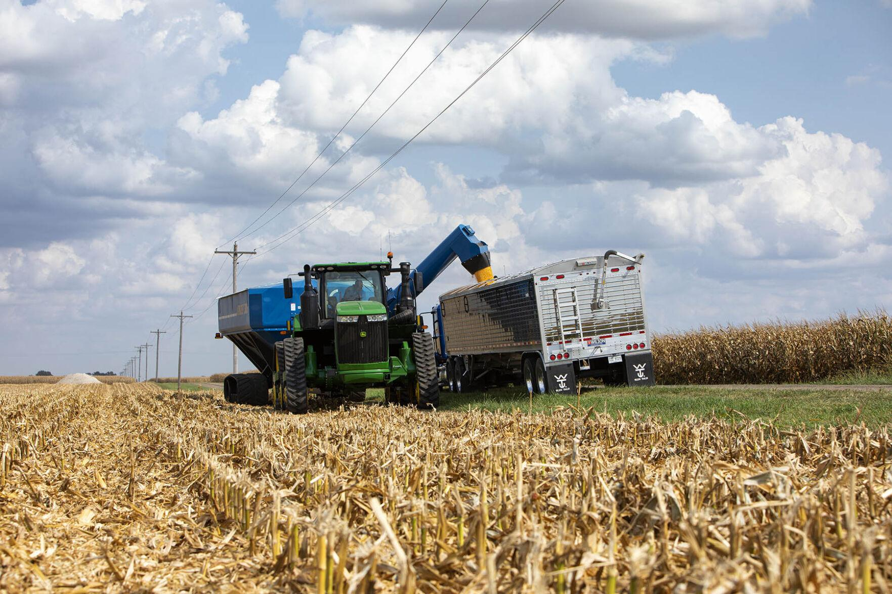 Combines roll as warm, dry stretch accelerates crop drying