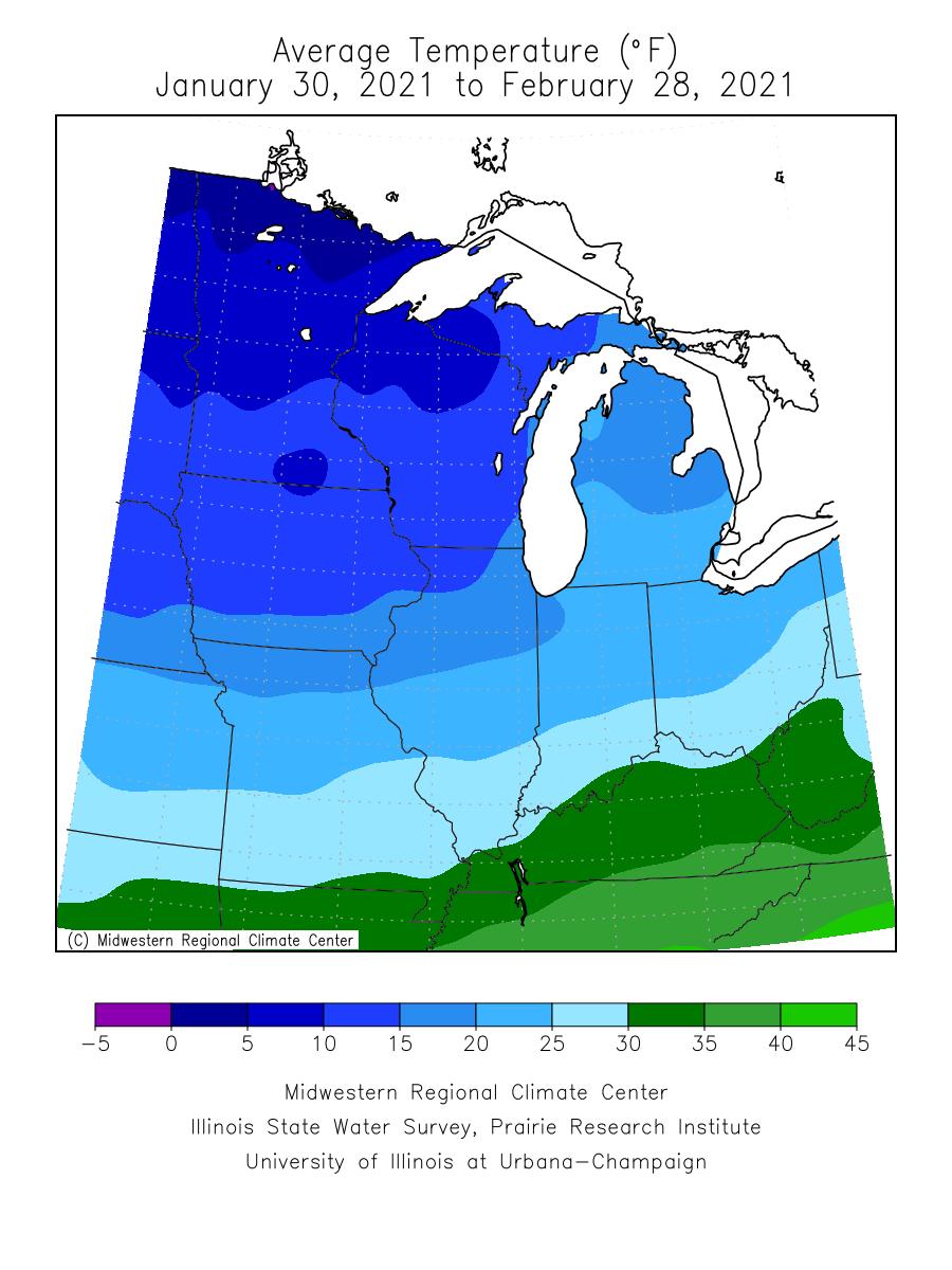 February snow, recent rains boost topsoil moisture in Illinois