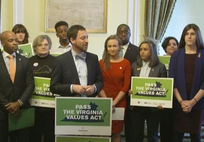 Virginia Values supporters at Capitol LGBTQ