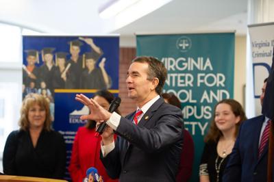 Gov. Ralph Northam at school safety event Dec. 2018