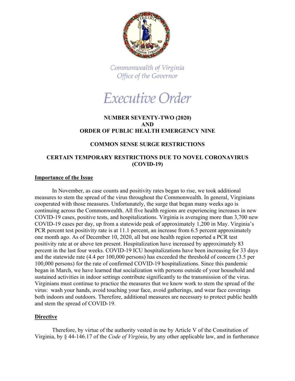 Executive Order 72