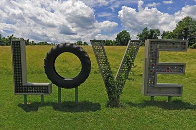 Airlie's LOVEwork sculpture