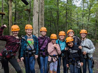 Girl Scouts ziip line