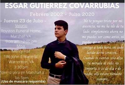 Esgar Gutierrez Covarrubias died in hiking accident