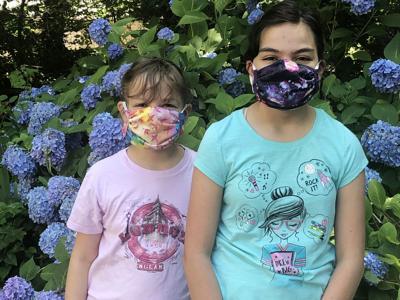 Gretel and Gabriela Warhurst child masks