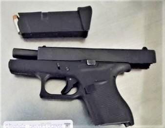 loaded handgun at Richmond Airport