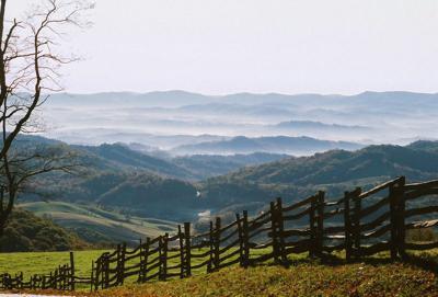park landscape; Grayson Highlands State park