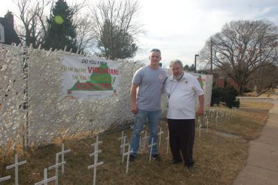 3,500 white crosses on Waterloo Street