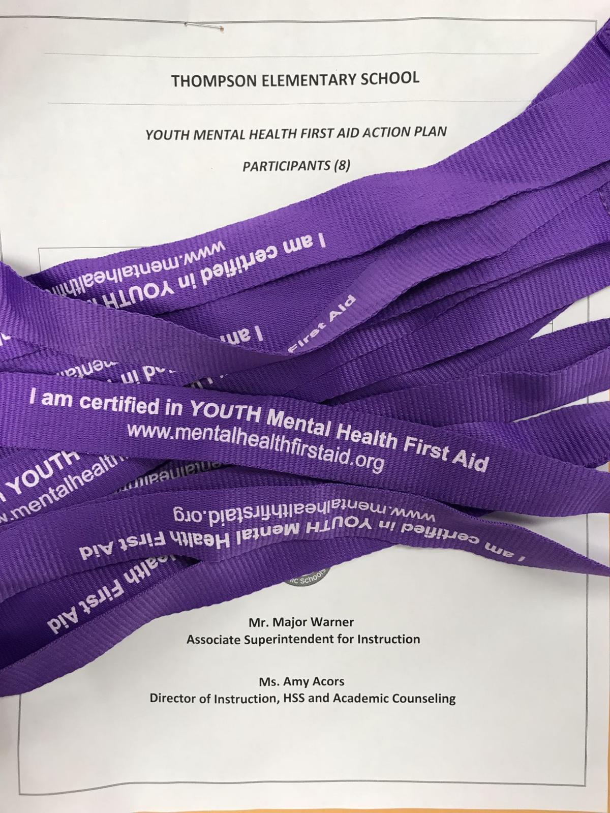 Purple Lanyards Identify Fauquier School Staff Trained In Mental