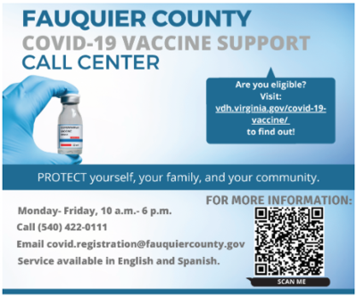 vaccine call center info