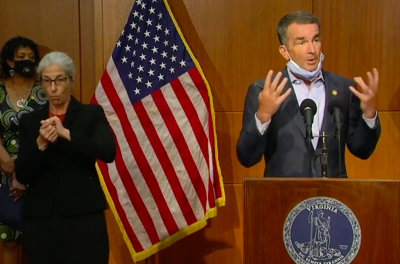 Gov. Ralph Northam speaks during a Sept. 1 press conference in Richmond.