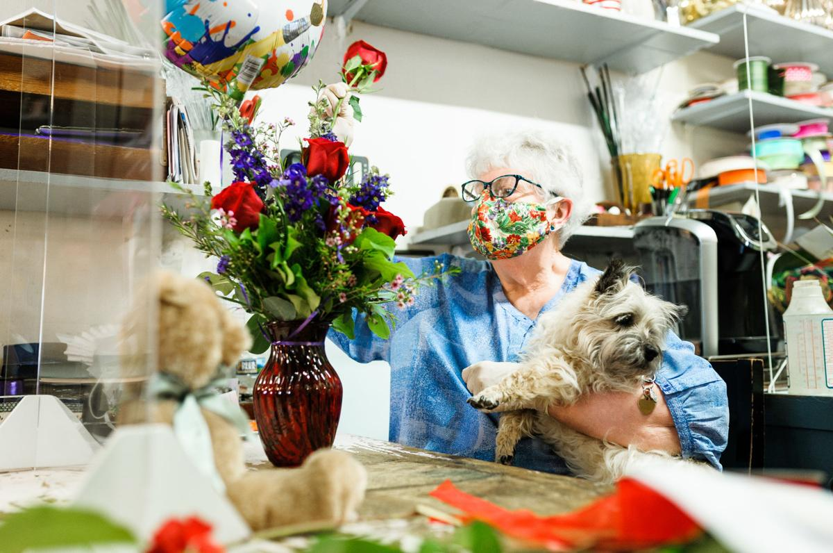 Dawn Borusky, owner of Village Flowers in Old Town Warrenton