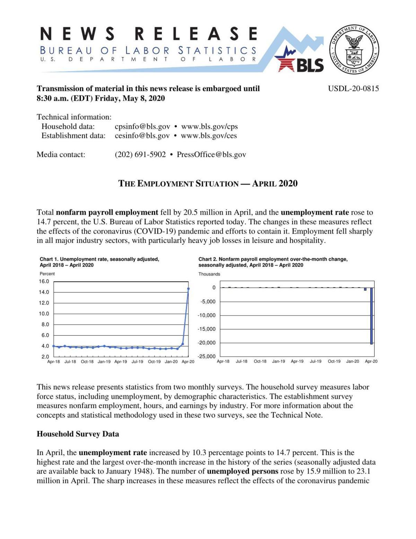 2020_05_08 BLS Employment April