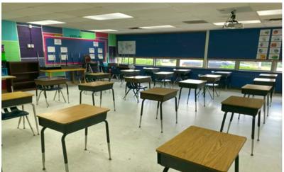 3-feet social distancing Fred Lynn Middle School